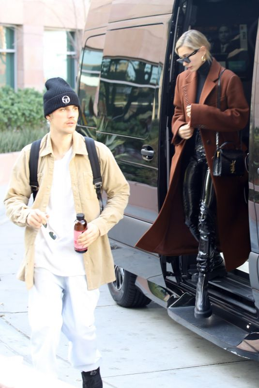 HAILEY and Justin BIEBER Arrive at Business Meeting in Santa Monica 01/14/2020