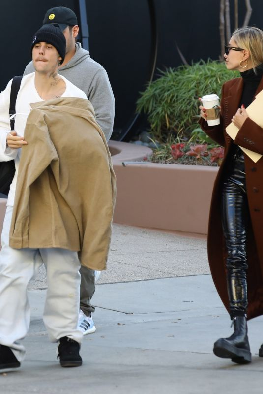HAILEY and Justin Bieber Out in Santa Monica 01/14/2020