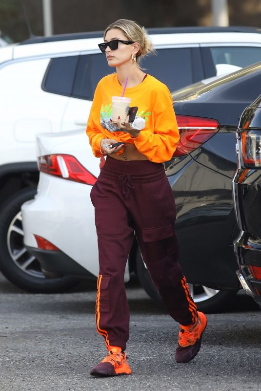 HAILEY BIEBER Arrives at Dance Studio in West Hollywood 01/15/2020