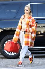 HAILEY BIEBER Arrives at Dance Studio in West Hollywood 01/29/2020