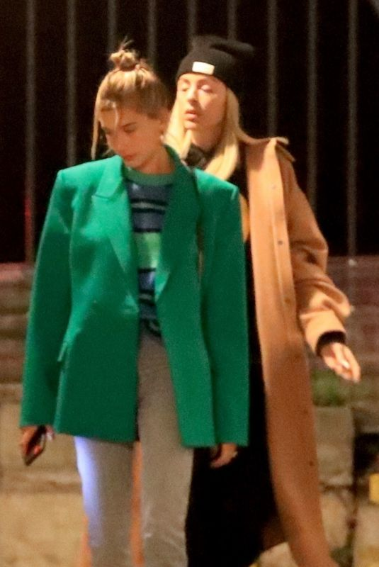 HAILEY BIEBER Arrives at Wednesday Church Services in Beverly Hills 01/15/2020