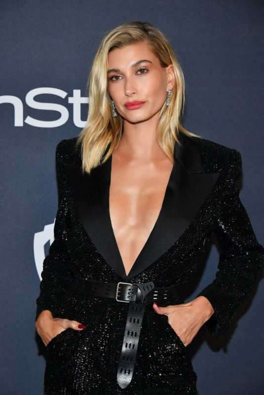 HAILEY BIEBER at Instyle and Warner Bros. Golden Globe Awards Party 01/05/2020
