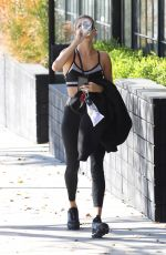 HAILEY BIEBER Leaves a Gym in Los Angeles 01/12/2020