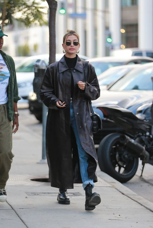 HAILEY BIEBER Out for Lunch in West Hollywood 01/16/2020