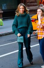 HALSTON SAGE Arrives at Build Series in New York 01/15/2020