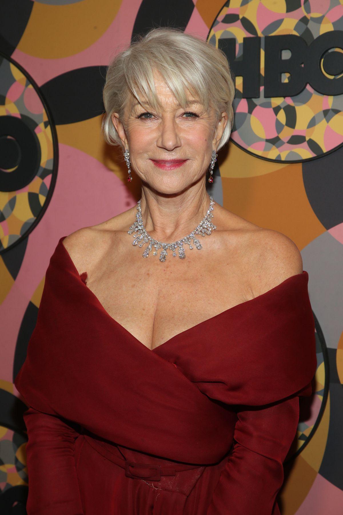 HELEN MIRREN at HBO Golden Globes Awards After-party 01/05