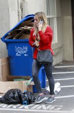HILARY DUFF Arrives at a Nail Salon in Los Angeles 01/21/2020