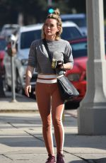 HILARY DUFF at a Gym in Studio City 01/15/2020
