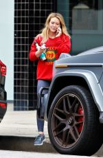 HILARY DUFF Leaves a Gym in Los Angeles 01/21/2020