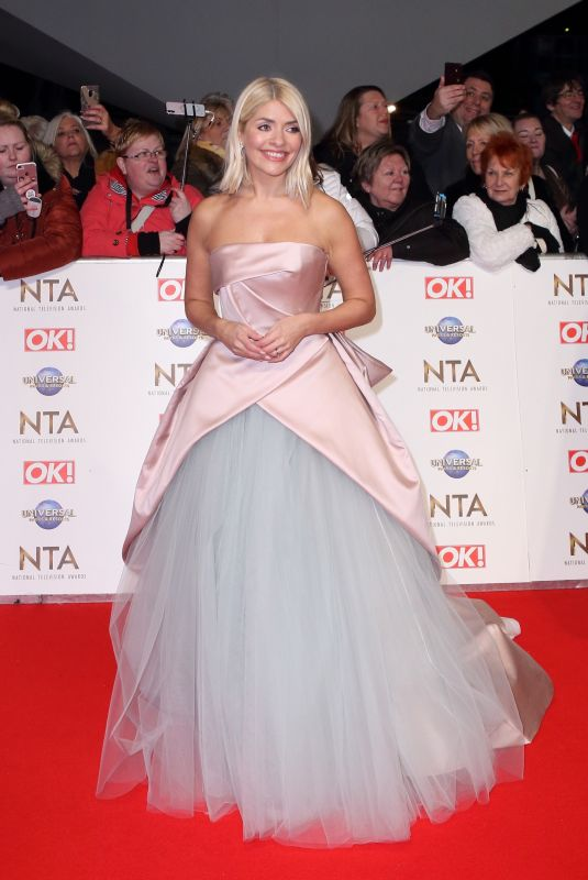 HOLLY WILLOGHBY at National Television Awards 2020 in London 01/28/2020