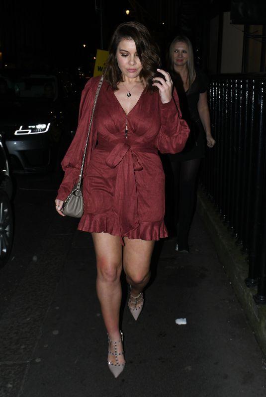 IMOGEN THOMAS Leave Art's Club in London 01/25/2020