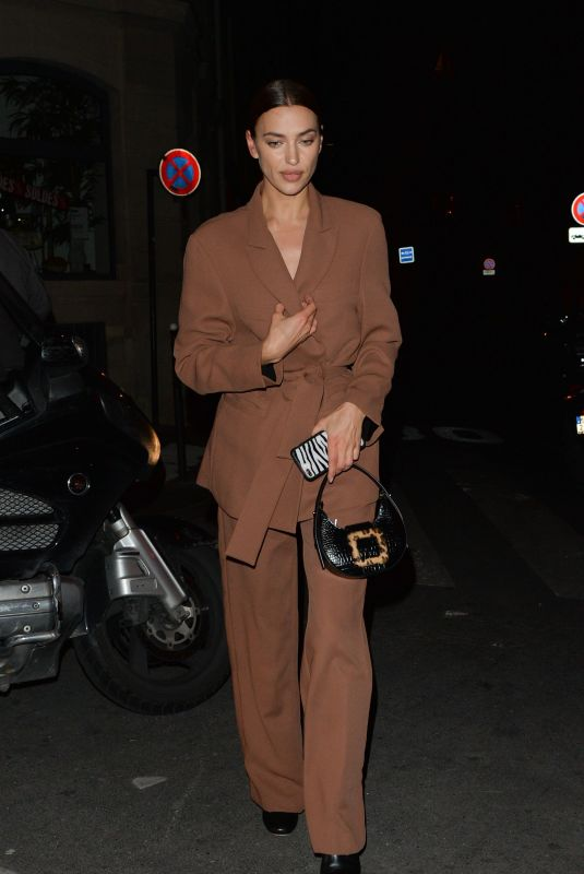 IRINA SHAYK Out and About in Paris 01/22/2020