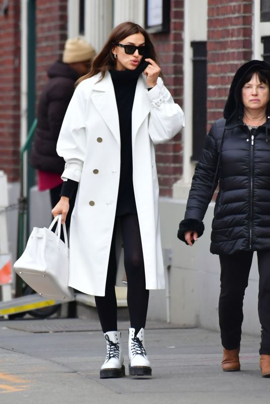 IRINA SHAYK Out Shopping with Her Mother in New York 01/27/2020