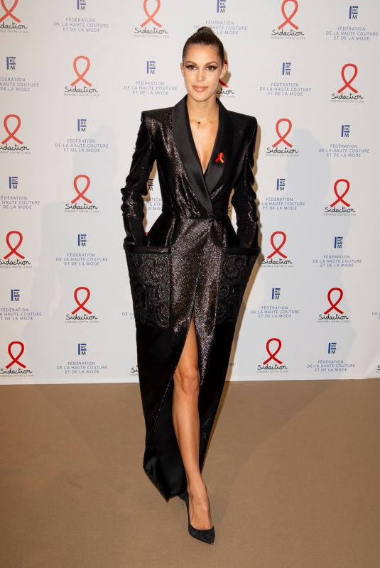 IRIS MITTENAERE at 18th Fashion Dinner for Aids Sidaction Association in Paris 01/23/2020