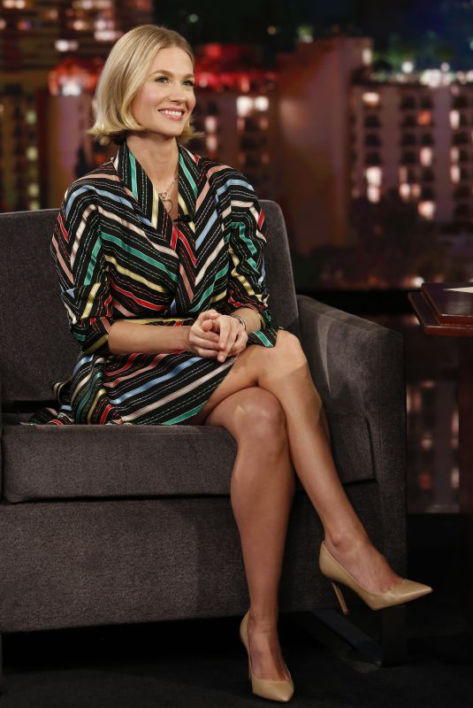 JANUARY JONES at Jimmy Kimmel Live 01/09/2020