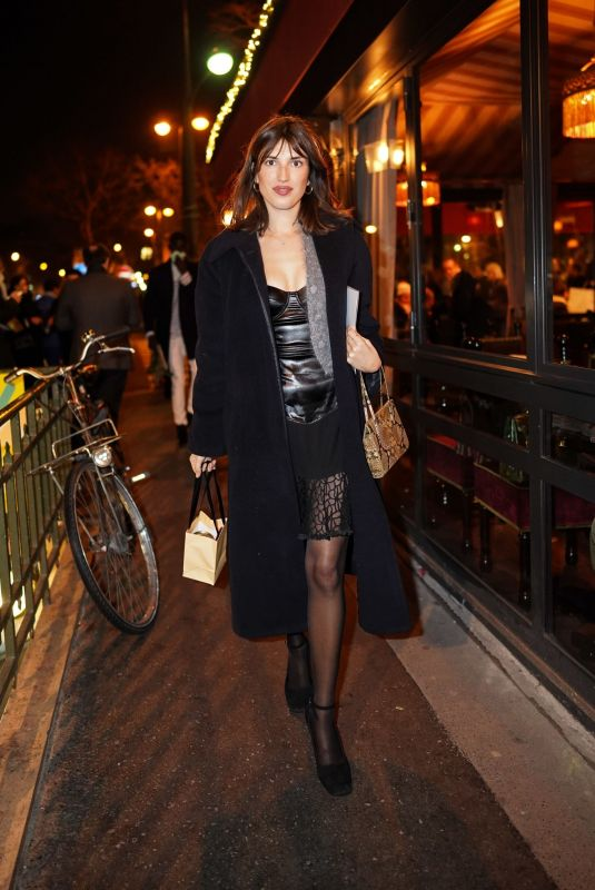 JEANNE DAMAS Leaves Jean Paul Gaultier Fashion Show in Paris 07/03/2019