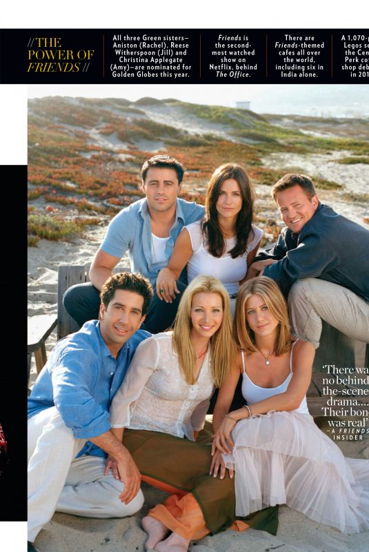 JENNIFER ANISTON, COURTENEY COX and LISA KUDROW in People Magazine, January 2020