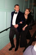 JENNIFER LOPEZ and Alex Rodriguez Out for Dinner in Wst Hollywood 01/19/2020