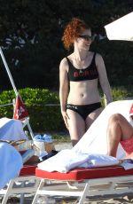 JESS GLYNNE in Bikini at a Beach in Miami 01/02/2020