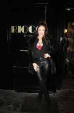 JESS IMPIAZZI Arrives at Ricco Lounge and Club Launch Party in London 01/30/2020