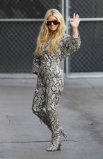 JESSICA SIMPSON Arrives at Jimmy Kimmel Live 01/29/2020