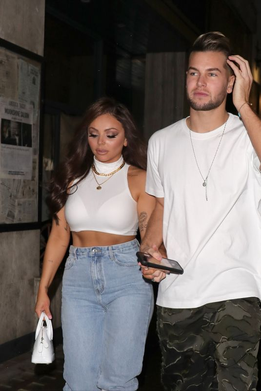 JESY NELSON and Chris Hughes Leaves Moonshine Saloon in London 01/16/2020