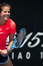 JULIA GOERGES Practices at 2020 Australian Open at Melbourne Park 01/19/2020