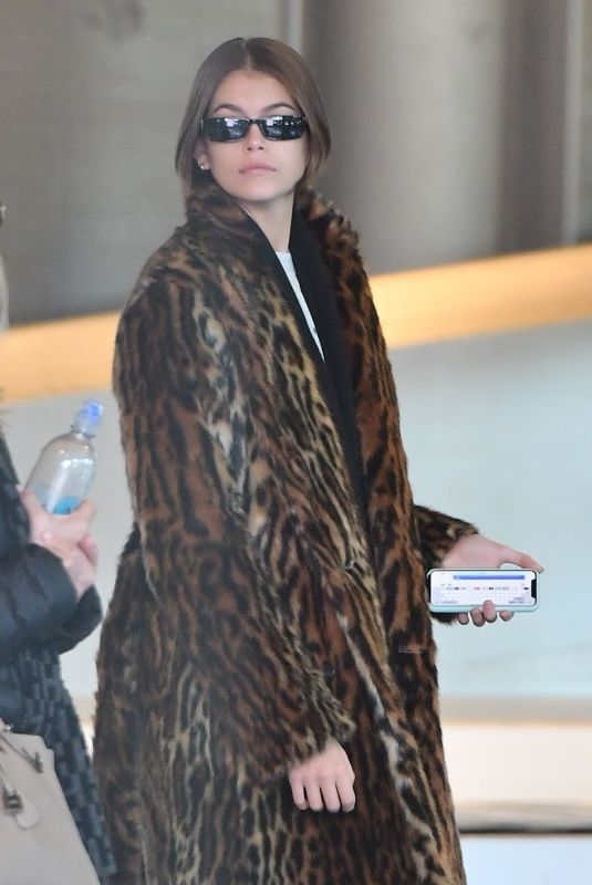 KAIA GERBER at Roissy-Charles-De-Gaulle Airport in Paris 01/18/2020