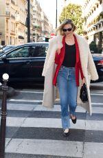 KARLIE KLOSS Leaves Ritz Hotel in Paris 01/22/2020