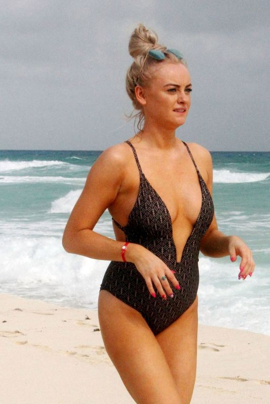 KATIE MCGLYNN in Swimsuit on the Beach in Mexico 01/22/2020