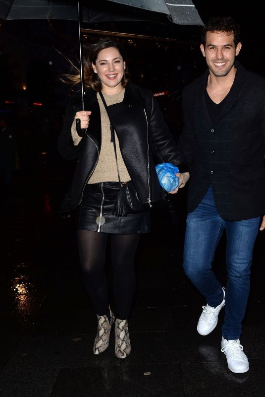 KELLY BROOK and Jeremy Parisi Leaves Global Radio in London 01/17/2020