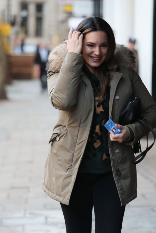 KELLY BROOK Arrives at Heart Radio in London 01/15/2020