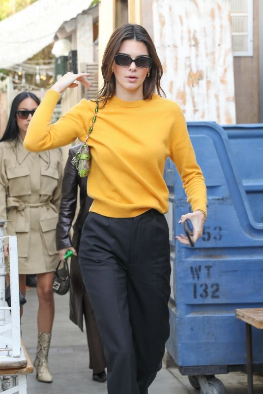 KENDALL JENNER Out for Lunch at Butcher's Daughter in Venice Beach 01/24/2020
