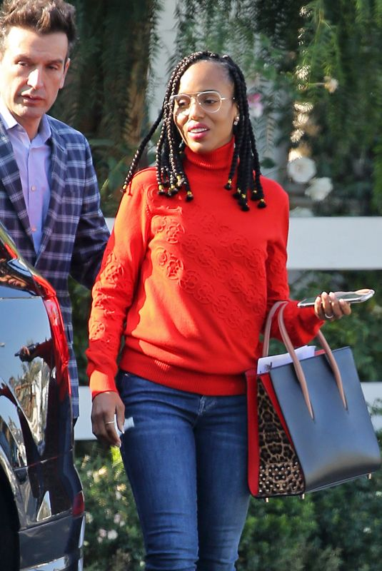 KERRY WASHINGTON Out and About in West Hollywood 01/24/2020
