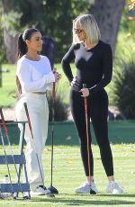 KHLOE and KIM KARDASHIAN Golfing in Los Angeles 01/08/2020