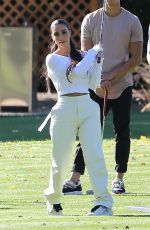 KHLOE and KIM KARDASHIAN Golfing in Los Angeles 01/08/2020