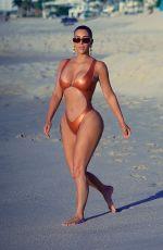 KIM KARDASHIAN in Bikini at a Beach in Mexico 01/13/2020