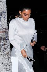 KIM KARDASHIAN Leaves Midnight Church Sunday Service in Los Angeles 01/26/2020