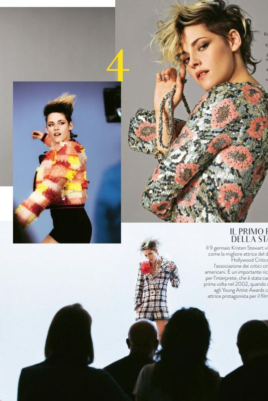 KRISTEN STEWART in Grazia Magazine, January 2020