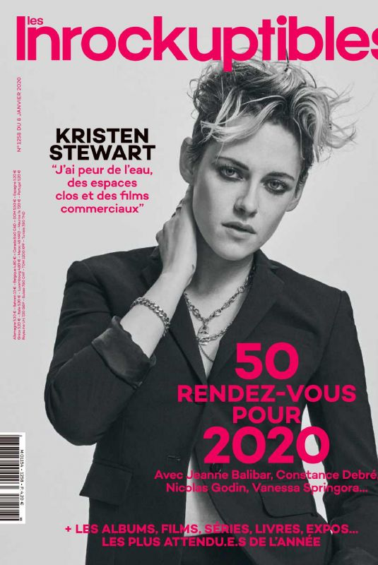 KRISTEN STEWART in Les Inrockuptibles Magazine, January 2020