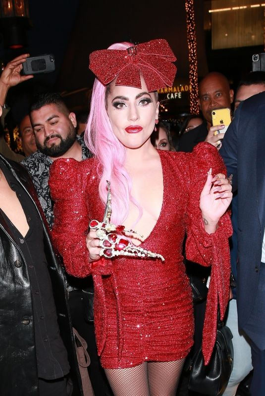 LADY GAGA at her Haus Labs Makeup Pop Up Launch at The Grove in Los Angeles 12/05/2019