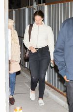 LANA DEL REY Leaves Wednesday Evening Church Services in Los Angeles 01/22/2020