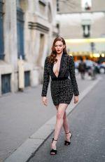 LARSEN THOMPSON Out at Paris Fashion Week 01/20/2020