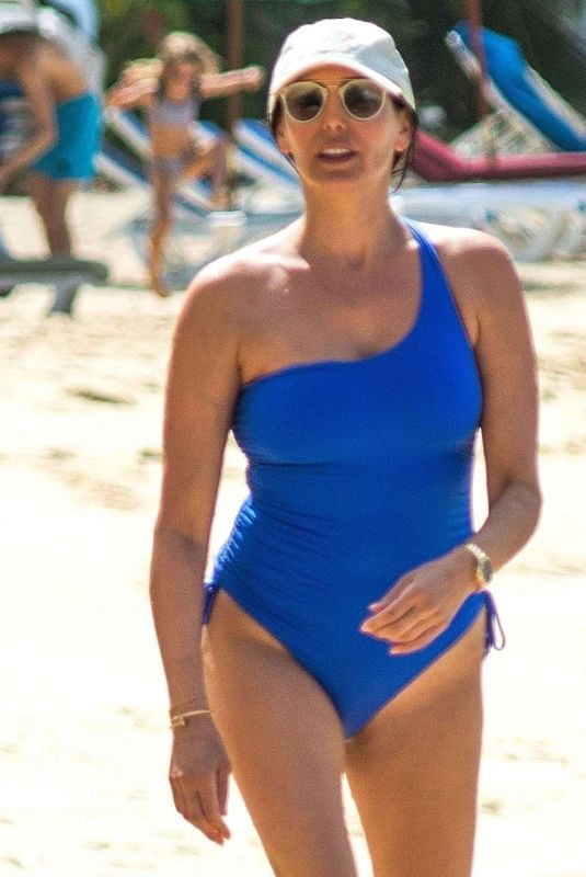 LAUREN SILVERMAN in Swimsuit at a Beach in Barbados 01/10/2020