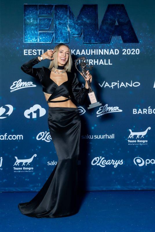 LIIS LEMSALI at Estonian Music Awards 2020 in Tallinn 01/24/2020