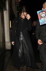 LILY JAMES Arrives at Les Miserables Reopnening in London 01/16/2020