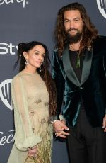 LISA BONET and Jason Momoa at Instyle and Warner Bros. Golden Globe Awards Party 01/05/2020