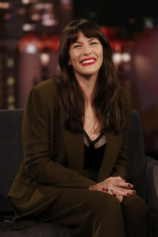 LIV TYLER at Jimmy Kimmel Lieve in Hollywood 01/21/2020