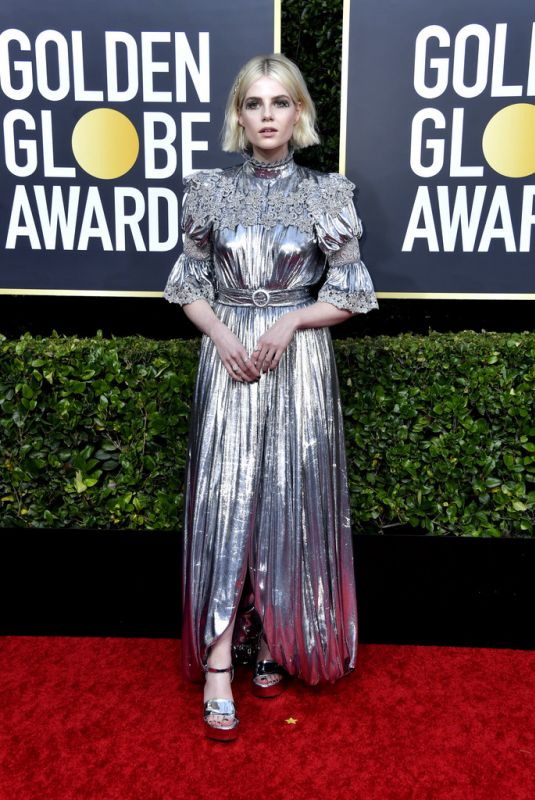 LUCY BOYNTON at 77th Annual Golden Globe Awards in Beverly Hills 01/05/2020