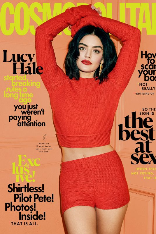 LUCY HALE for Cosmpolitan magazine, March 2020